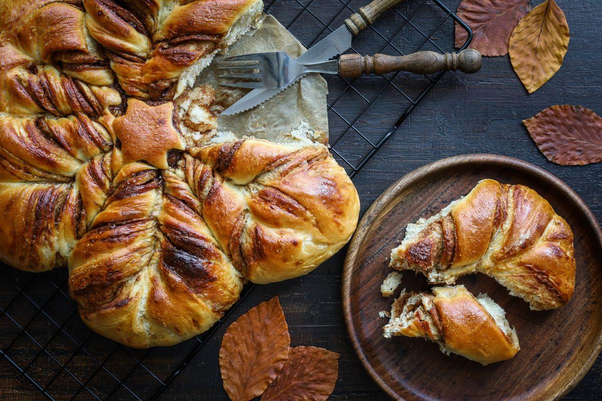 Pane a stella alla marmellata