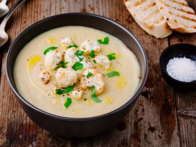 Zuppa di ceci e cavolfiore senza glutine