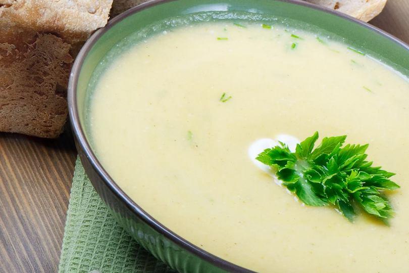Zuppa di avena e salsa di soia