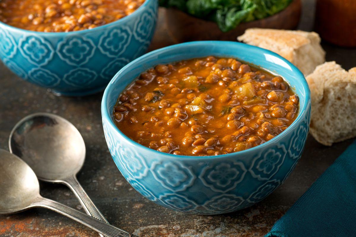 zuppa di lenticchie rosse e zenzero