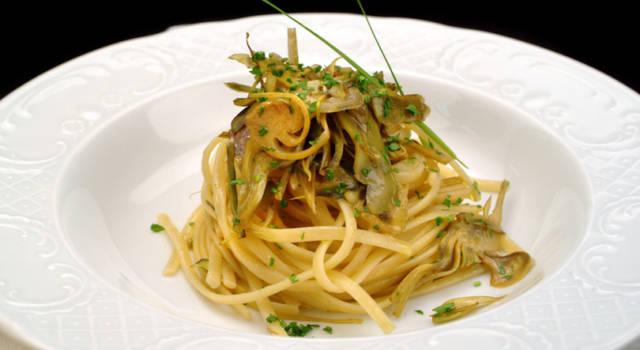 Spaghetti con cuori di carciofi arrostiti: un primo piatto gustoso!