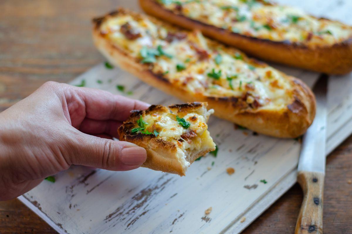 baguette farcita con mozzarella