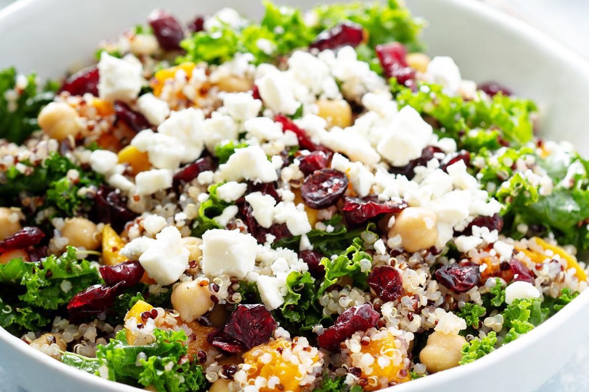 insalata con quinoa e topinambur