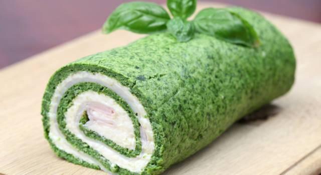 Rotolo di frittata con spinaci gourmet