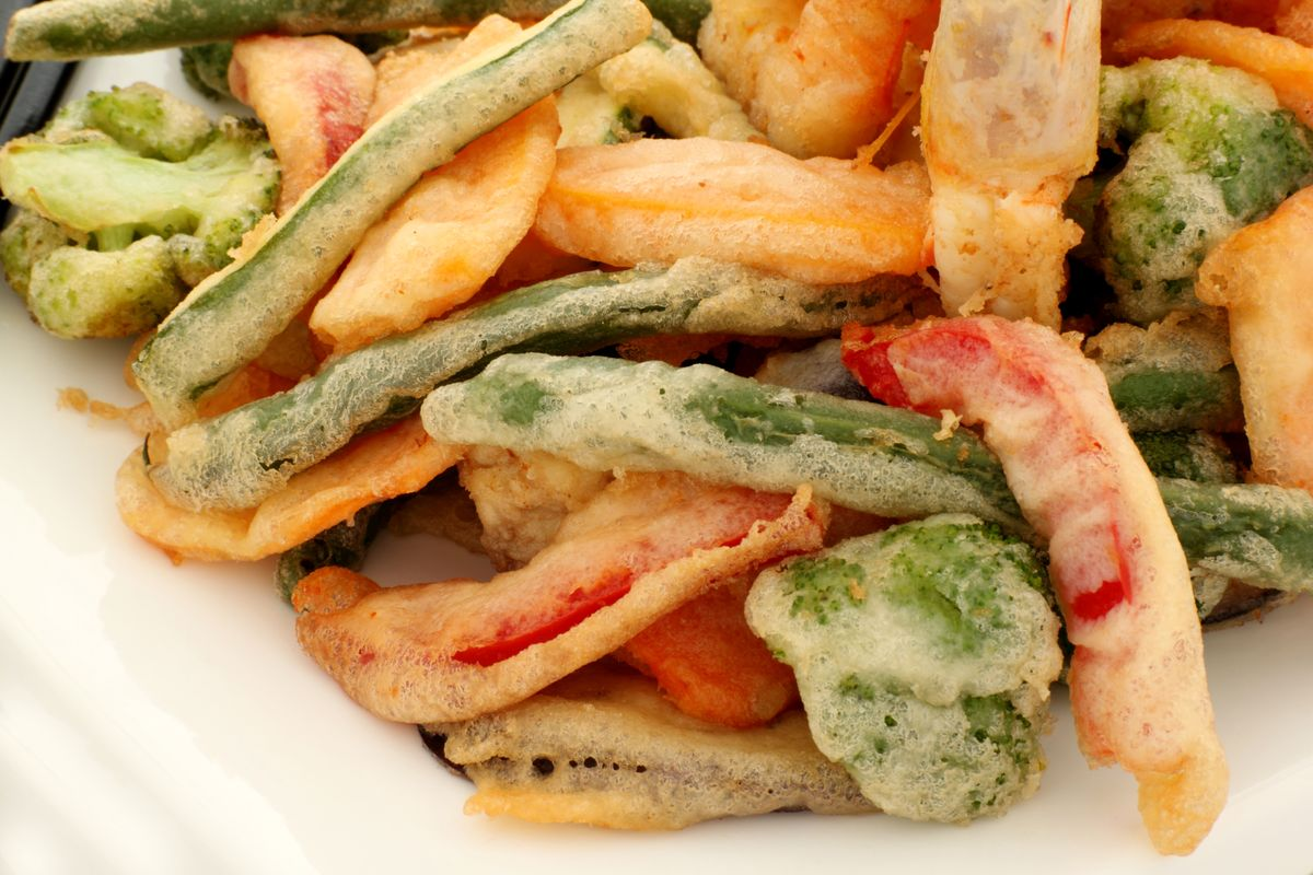 verdure fritte in pastella vegana