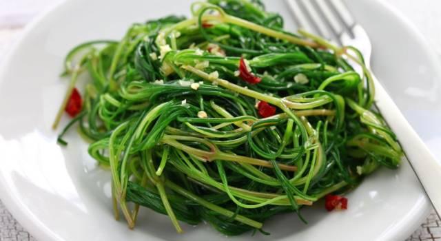 Agretti in salsa di soia: un contorno dal sapore orientale