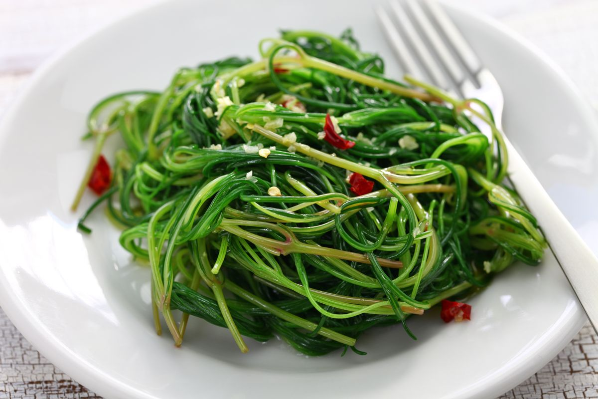 Agretti all'orientale