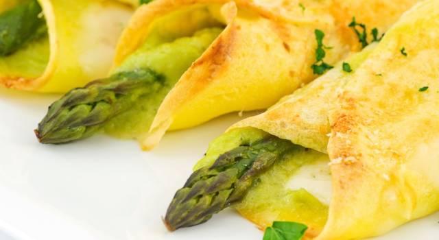 Crespelle agli asparagi vegane: un primo piatto gustoso