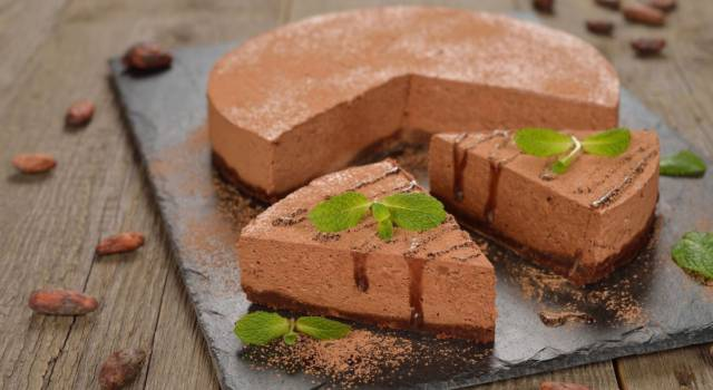 Cheesecake al cioccolato senza cottura: cremosa e gustosa
