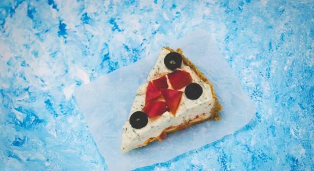 Cheesecake salata cotta al forno con verdure: un antipasto originale!