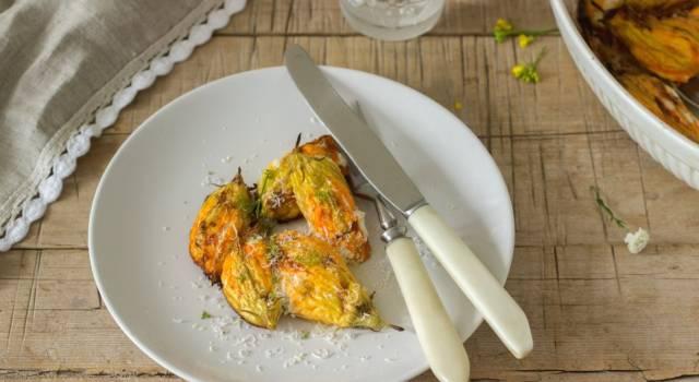 Fiori di zucca ripieni al forno: leggeri e deliziosi!