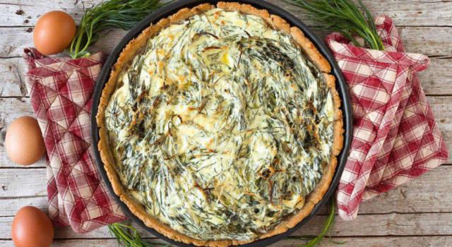 Torta salata agli agretti rustica: perfetta per l'antipasto!