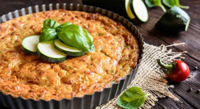 Torta salata senza glutine: la ricetta con zucchine