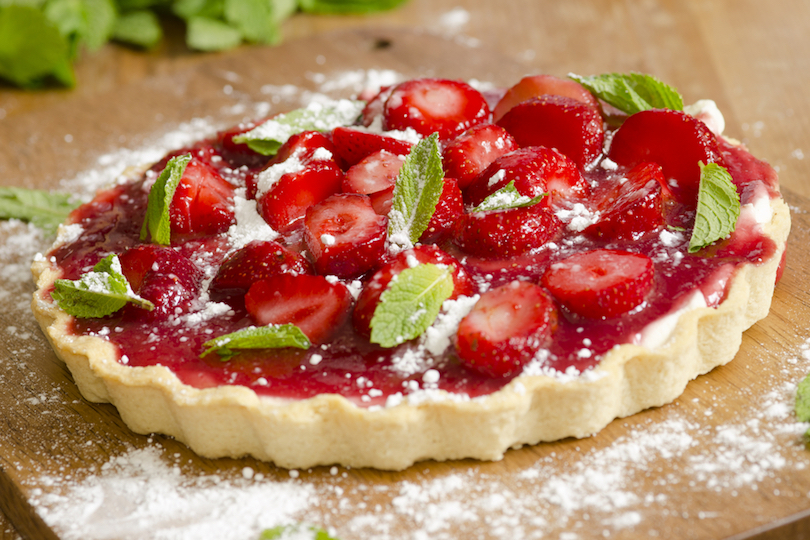 crostata di fragole
