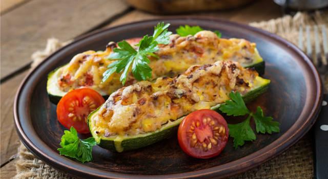 Zucchine al tonno gratinate: secondo estivo