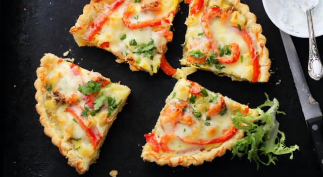 Cheesecake salata ai peperoni arrostiti: che sfizio!