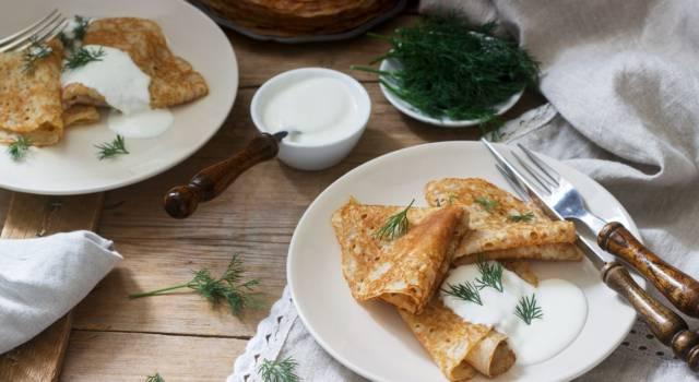 Crespelle di grano saraceno senza glutine (da farcire a piacere)