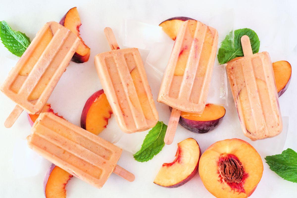 ghiaccioli frutta e yogurt