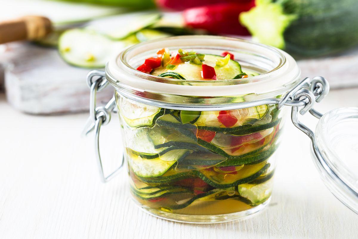 zucchine in vasocottura
