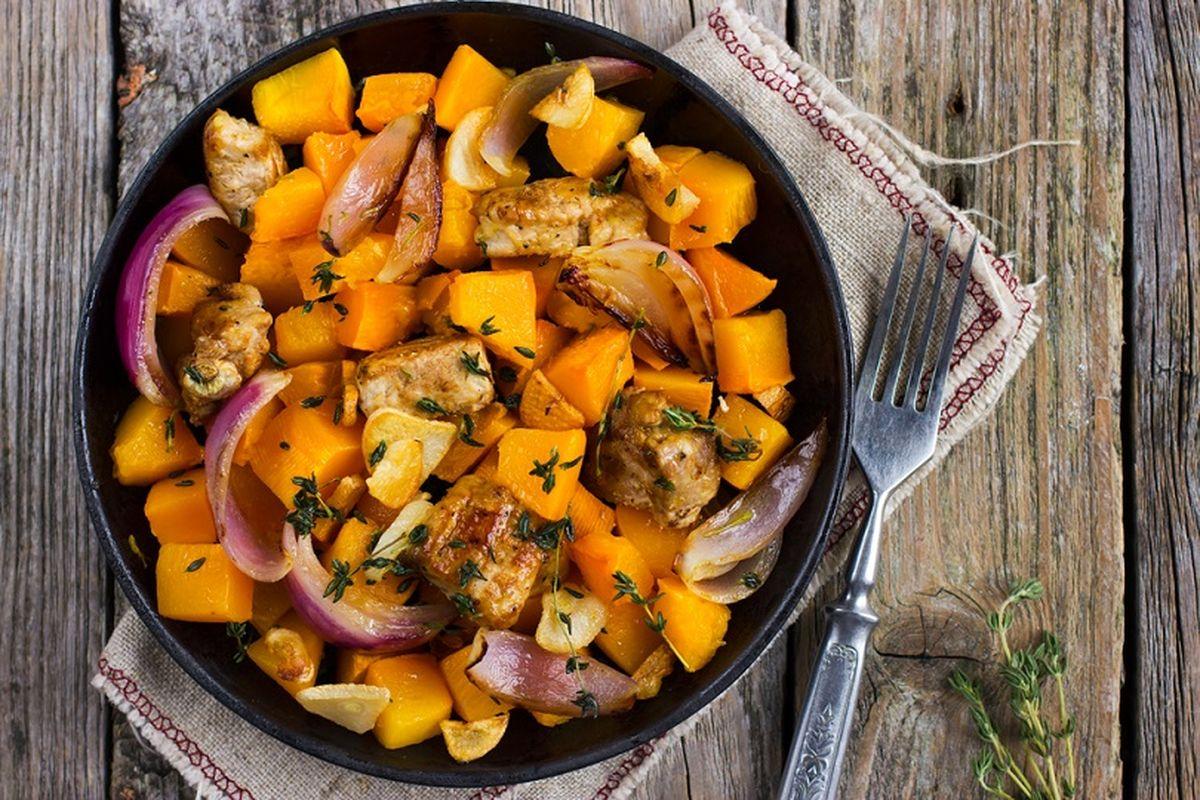 Pollo e zucca alla paprika