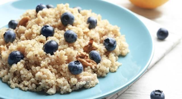 Dolce di quinoa con mirtilli e noci: buonissimo e senza glutine!