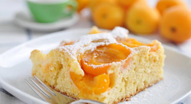 Torta morbida con albicocche e yogurt: buonissima!