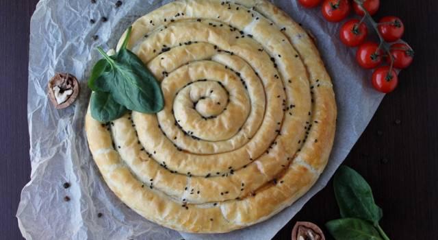 Torta salata spirale di verdure: la ricetta con le zucchine