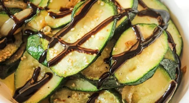 Zucchine all'aceto balsamico… facilissime da preparare!