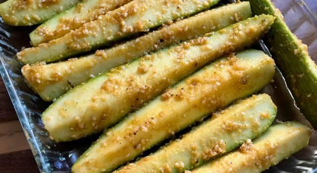 Zucchine al forno ai fiocchi di mais (senza glutine)