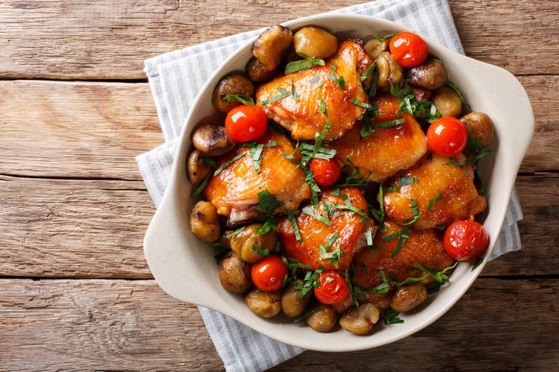 Pollo alle castagne