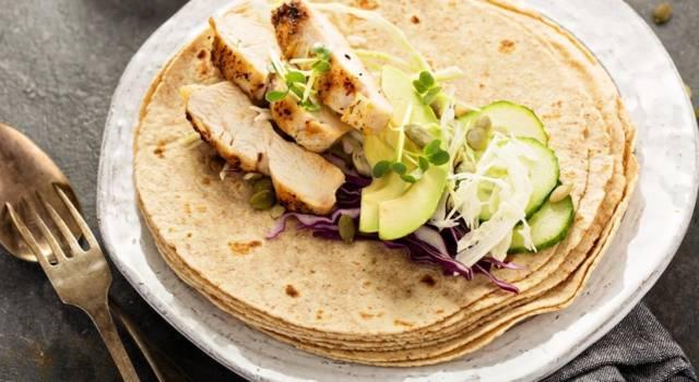 Crepes con farina di amaranto farcite con pollo e avocado: troppo buone!