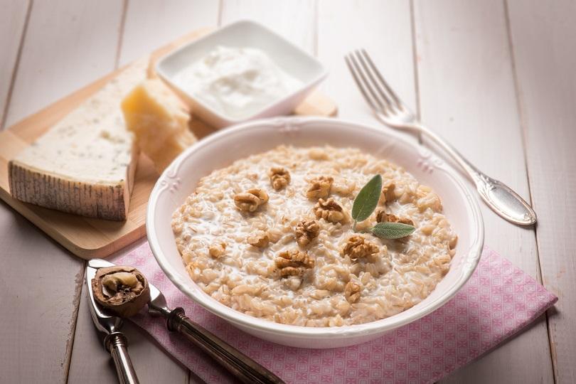 riso gorgonzola e noci