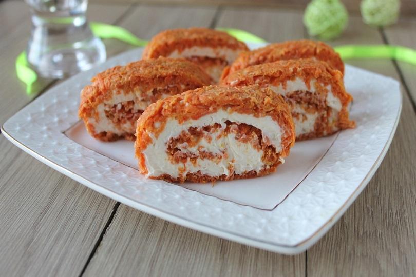 Rotolo di carote salato