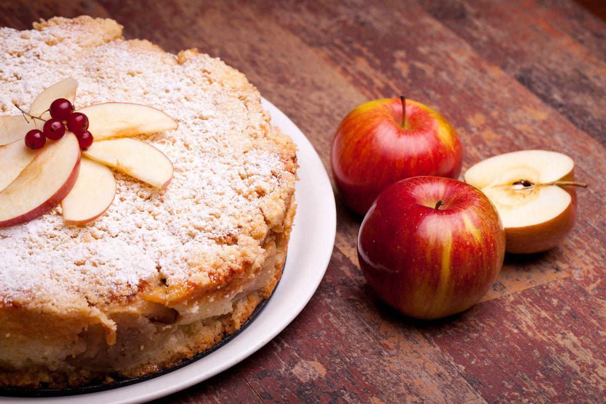Torta di mele senza latte