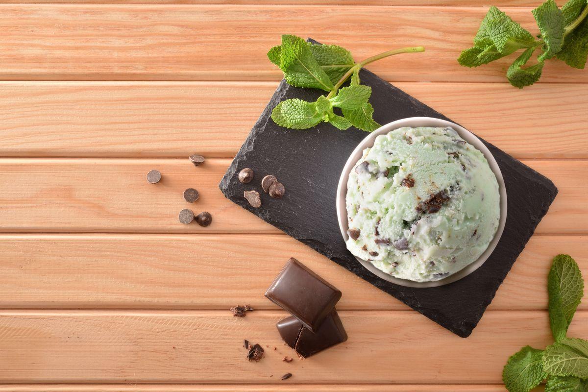 gelato menta e cioccolato