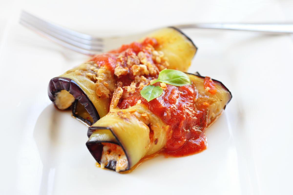 Involtini di melanzane alla siciliana