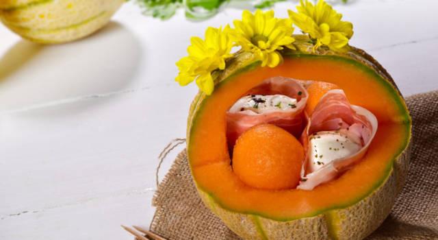 Antipasto di prosciutto crudo, mozzarella e melone