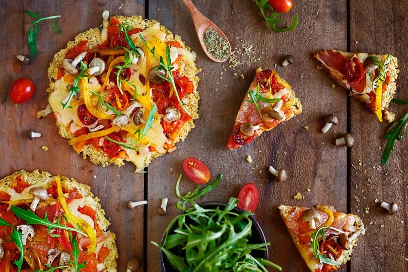 pizza con farina di mais