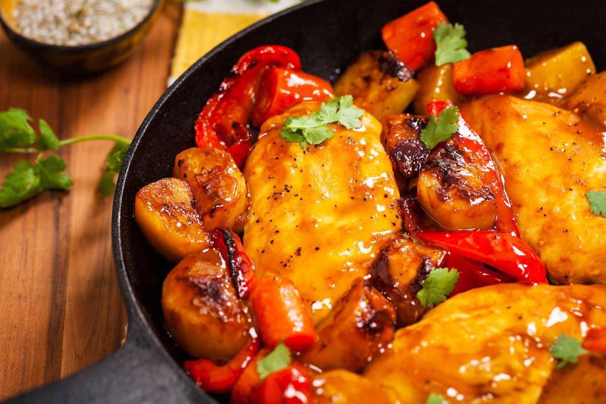 Pollo con peperoni
