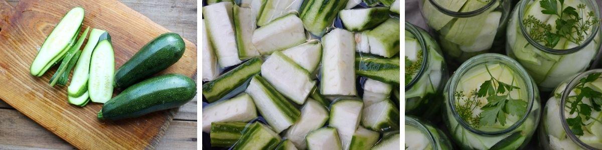 preparazione dell zucchine sott'olio