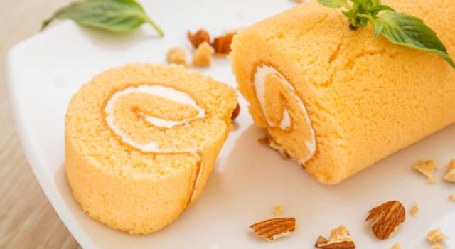 Rotolo gluten free con marmellata di albicocche