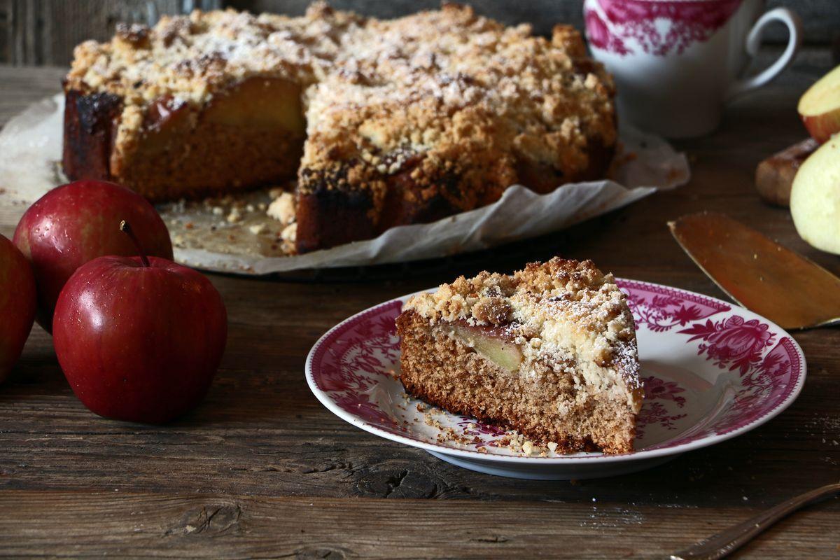 Torta di mele con farina di teff