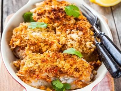 Branzino in crosta di cornflakes: croccantezza ad ogni morso!