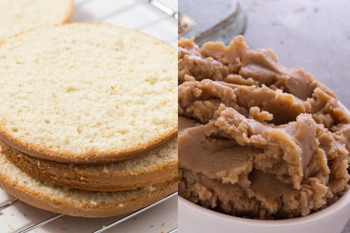 Pan di Spagna e purea di castagne