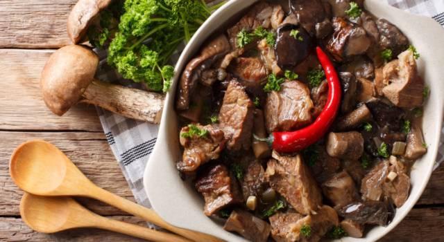 Saporito spezzatino di vitello ai funghi: la ricetta