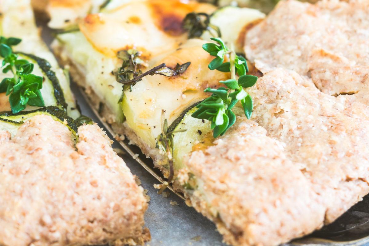 torta salata alle zucchine integrale