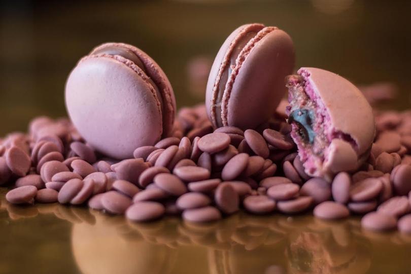 Macarons con cioccolato Ruby
