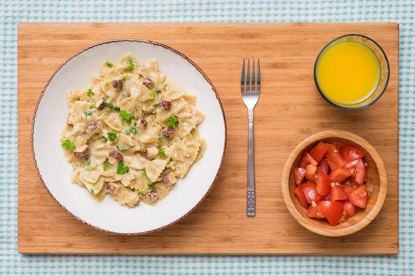 Carbonara con tofu