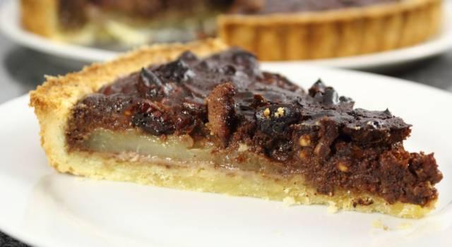 Crostata pere e cioccolato: la ricetta della torta golosa