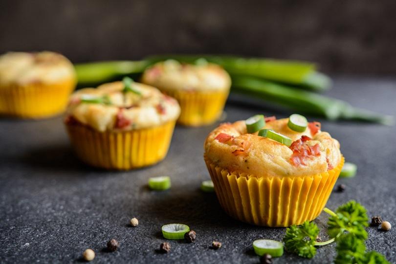 Muffin salati con albumi